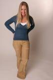 Shy teen standing Stock Image