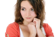 Shy teenage girl Royalty Free Stock Image