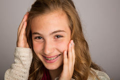 Shy teenage girl Royalty Free Stock Images