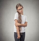 Shy teenager girl Royalty Free Stock Photography
