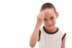 Shy thinking boy Stock Photos