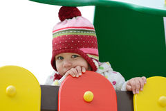 Shy toddler Stock Photo
