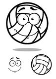 Shy volleyball ball character design elements Royalty Free Stock Image