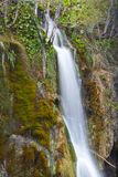 Shy Waterfall. Wonderful cascade little capture in Plitvice Lakes, Croatia stock images
