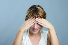 Shy woman Stock Image