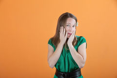 Shy Woman Stock Photography