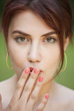 Shy woman Royalty Free Stock Images