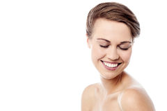Shy woman with healthy skin Royalty Free Stock Photo