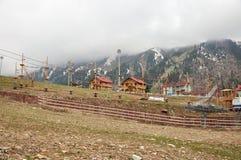 Shymbulak ośrodek narciarski Zdjęcie Royalty Free