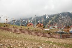 Shymbulak ski resort Royalty Free Stock Photo