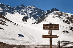 Shymbulak ski resort. Talgar Pass. Stock Images