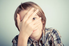 Shyness Stock Photography