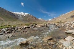 Shyok river with mountain view, Ladakh, India. Stock Image