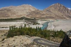 Shyok river in Nubra valley Ladakh ,Jammu & Kashmir, India Royalty Free Stock Image