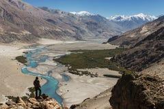 Shyok river in Nubra valley Ladakh ,Jammu & Kashmir, India Stock Images