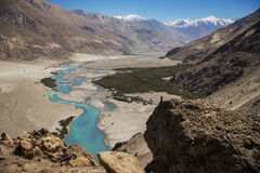 Shyok river in Nubra valley Ladakh ,Jammu & Kashmir, India Stock Image