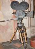 siècle dernier d'appareil-photo de la cinématographie 35-millimètre Photographie stock libre de droits