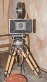 siècle dernier d'appareil-photo de la cinématographie 35-millimètre Photos libres de droits