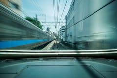 Siège avant dans le train, train du Japon photos libres de droits