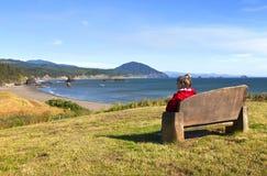 Siège de première ligne, littoral de l'Orégon. Image libre de droits