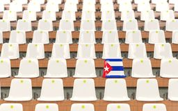 Siège de stade avec le drapeau du Cuba illustration stock