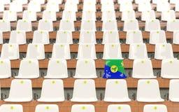 Siège de stade avec le drapeau de l'Île Christmas Photos libres de droits