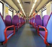 Siège de voiture de train Photo stock
