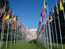 Siège des Nations Unies Photo stock