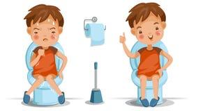 Siège des toilettes d'enfants illustration stock