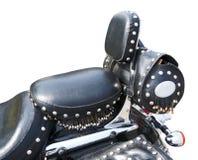 Siège en cuir de moto antique Image stock