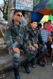 Siège militaire de ville de Mindanao Images libres de droits