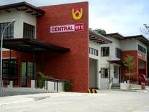 Siège social du central 911 de ville de Davao Image stock