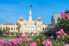 Siège social du Comité du ` s de Ho Chi Minh City People Image stock
