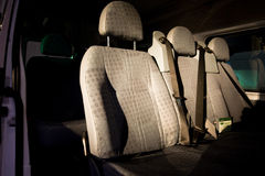 Sièges à l'intérieur de d'un véhicule Image libre de droits