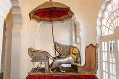 Sièges appelés Hawdas utilisé sur des éléphants Image stock