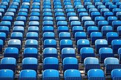 Sièges bleus Image libre de droits