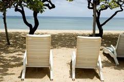 sièges d'île de plage de bali Images stock