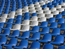 Sièges dans le stade Photos libres de droits