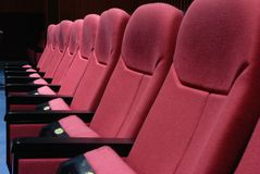Sièges de cinéma Photographie stock libre de droits