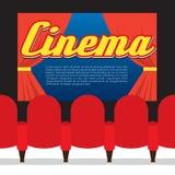 Sièges de cinéma en Front Of Screen Cinema Seats en Front Of Screen Images libres de droits