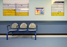 Sièges de refuge dans l'hôpital Photo libre de droits
