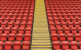 Sièges de stade avec des étapes Images libres de droits