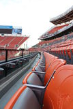 Sièges de stade de Cleveland Browns Photographie stock