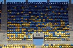 Sièges de stade de football Photographie stock libre de droits