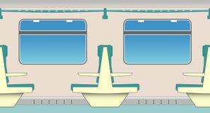 sièges de train Images stock