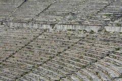 Sièges en pierre dans le théâtre antique grec Photo libre de droits