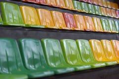 Sièges multicolores Images libres de droits