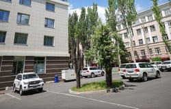 Sièges sociaux d'OSCE à Donetsk Images libres de droits
