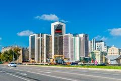 Sièges sociaux de compagnie de Lukoil dans le boulevard de Sretensky du MOS Images libres de droits