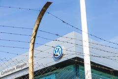 Sièges sociaux de Volkswagen, Barcelone Photographie stock libre de droits